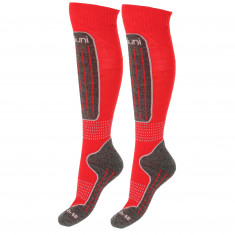 Deluni ski socks, 2 pairs, red