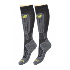 Deluni junior ski socks, 2 pairs, black