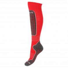 Deluni junior ski socks, 1 pair, red