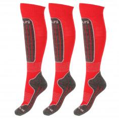 Deluni ski socks - 3 pairs, red