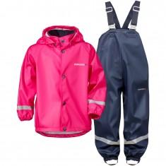 Didriksons Slaskeman, Rain Suit, kids, fuchsia