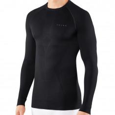 Falke Maximum Warm Longsleeved Shirt Tight Fit, men, black