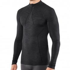 Falke Wool-Tech Zip Shirt Comfort, men, black