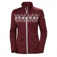 Helly Hansen W Graphic fleece jacket, women, cabernet