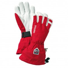 Hestra Army Leather Heli ski gloves, red