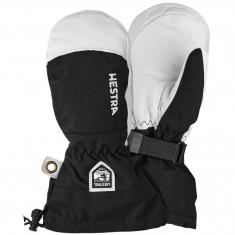 Hestra Army Leather Heli ski mitt, junior black