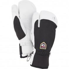 Hestra Army Leather Patrol 3-finger ski gloves, black