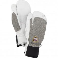 Hestra Army Leather Patrol 3-finger ski gloves, grey