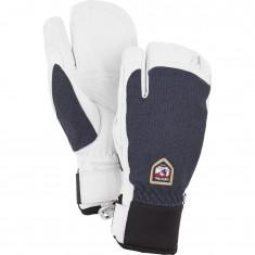 Hestra Army Leather Patrol 3-finger ski gloves, marin