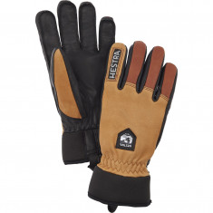 Hestra Army Leather Wool Terry ski gloves, cork/brown