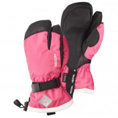 Hestra Gauntlet 3-finger ski gloves, junior, fuchsia