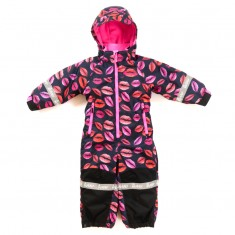 Hulabalu Kiss Snowsuit, Black