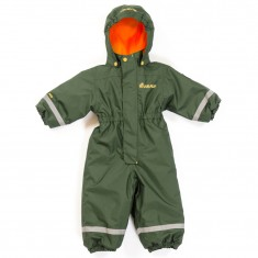Hulabalu Orion Snowsuit, Army/Flame Orange