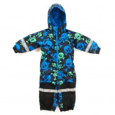 Hulabalu Skulls Snowsuit, Black