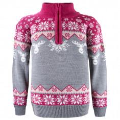 Kama Astrid Merino Sweater, kids, grey/pink