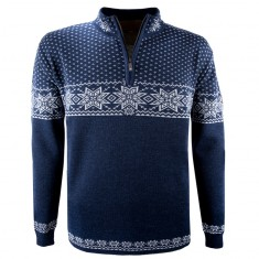 Kama Rune, merino sweater, men, navy