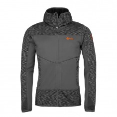 Kilpi Assasin-M, mens fleece midlayer hoodie, dark grey
