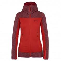 Kilpi Assasin-W, womens fleece midlayer, red
