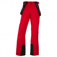 Kilpi Elare-W short, womens ski pants, red