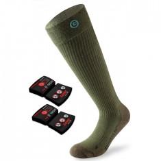 Lenz Heat Sock 4.0 + Lithium Pack, green