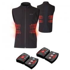 Lenz Heat Vest 1.0 + Lithium Pack rcB 1800, men, black
