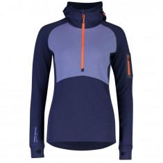 Mons Royale Ascend Midi Half Zip Hood, women, blue velvet