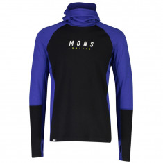 Mons Royale Olympus 3.0 Pullover Hood, men, ultra blue black