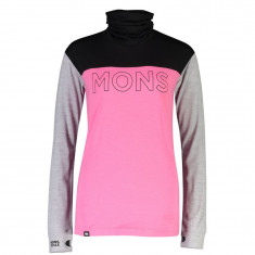 Mons Royale Yotei BF High Neck, women, pink