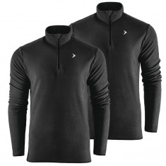 Outhorn Midelo 1/4 zip fleecepulli, mens, black 2-pack