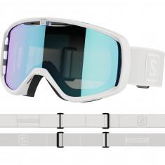 Salomon Aksium, goggles, white/grey
