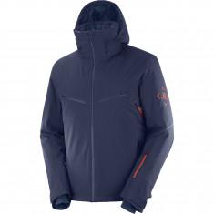 Salomon Brilliant JKT M, ski jacket, men, dark blue