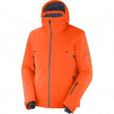 Salomon Brilliant JKT M, ski jacket, men, orange