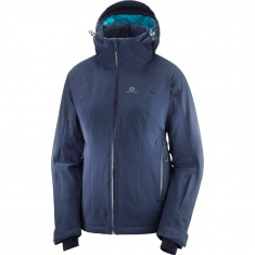 Salomon Brilliant JKT W, ski jacket, women, blue