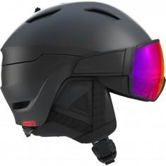 Salomon Driver, helmet with visor, black/red