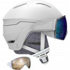 Salomon Mirage, helmet with visor, white