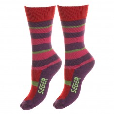 Seger Happy Kids, ski socks, kids, 2-pair, purple