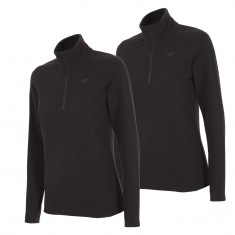 4F Thora Microtherm womens fleece midlayer, black, 2 pcs