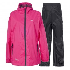 Trespass Qikpac, rain suit, junior, sasparilla
