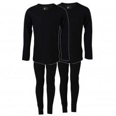 TrueNorth 2 set ski underwear, kids/junior, black
