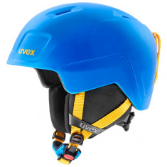 Uvex Heyya Pro, ski helmet, junior, blue/yellow