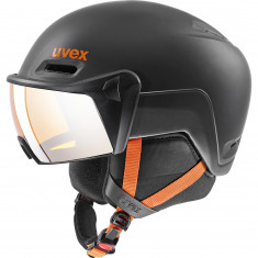 Uvex hlmt 600 ski helmet with visor, dark slate orange